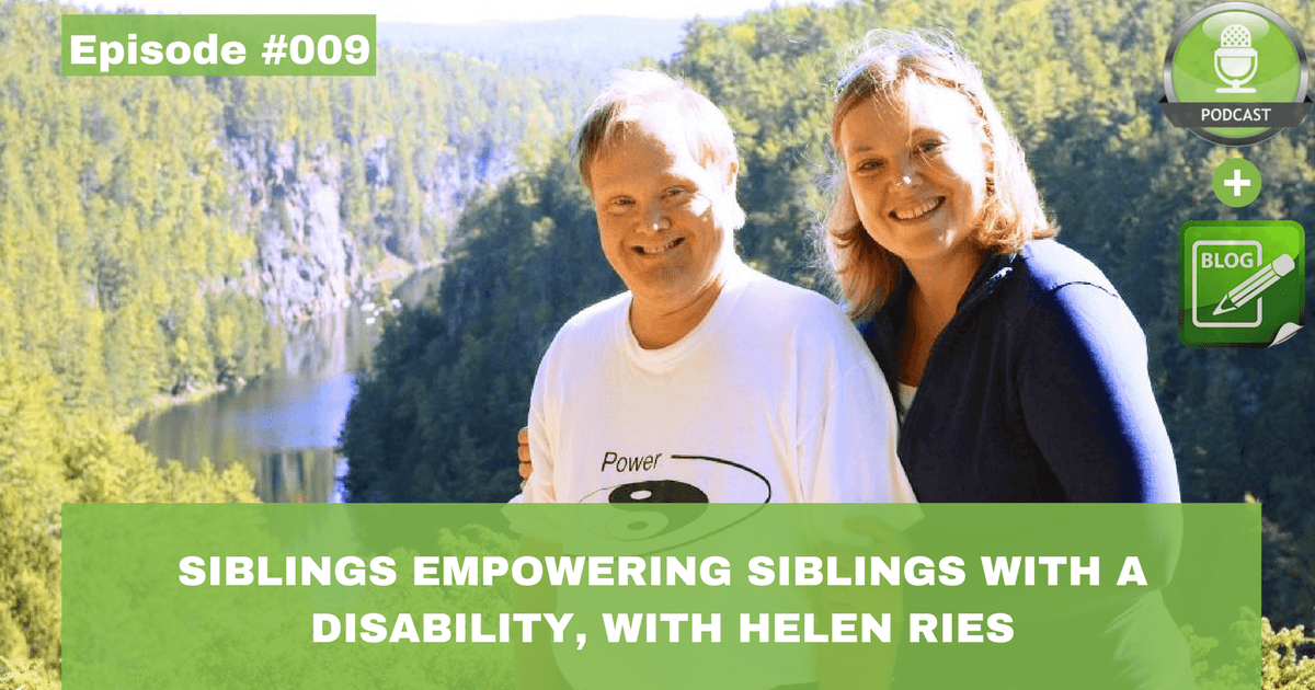 siblings empowering siblings with a disability with helen ries