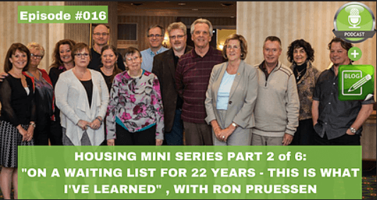 housing mini series part 2 of 6 on a waiting list for 22 years this is what i've learned with ron prussen